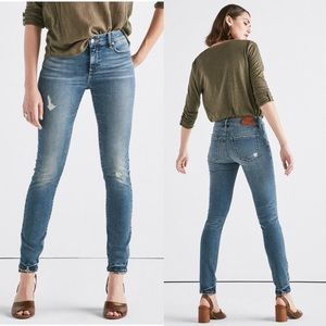 Lucky Brand Hayden High Rise Ripped Skinny Jeans